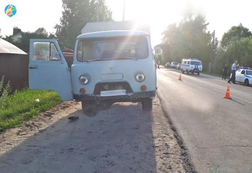 В Моршанске грузовик сбил женщин и ребенка